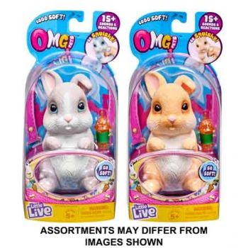 Little Live Pets OMG Pets Bunny assorted ( ONLY SOLD in Carton of 3 )