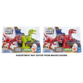 Robo Alive Robotic Rampaging Raptor with Slime assorted