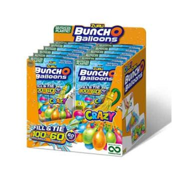 Zuru Bunch O Balloons Crazy Recycle 3pk Foilbag ( ONLY SOLD in Display of 12 )