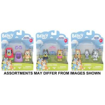 Bluey Mini Figurines 2pk assorted ( ONLY SOLD in Carton of 4 )