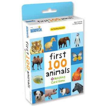 First 100 Matching Card Game - Animals ( ONLY SOLD in Display of 12 )