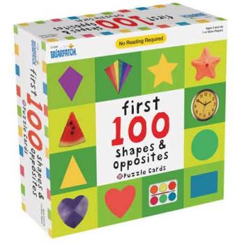 First 100 Shapes & Opposites Puzzle Cards