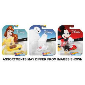 Hot Wheels Disney Character Cars assorted ( ONLY SOLD in Carton of 8 )