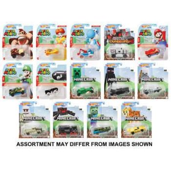 Hot Wheels Gaming Character Cars assorted ( ONLY SOLD in Carton of 8 )