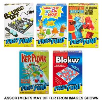 Fast Fun Travel Games assorted ( ONLY SOLD in Carton of 5 )