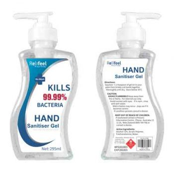 ReliFeel Hand Sanitiser Gel 295ml ( ONLY SOLD in Carton of 24 )