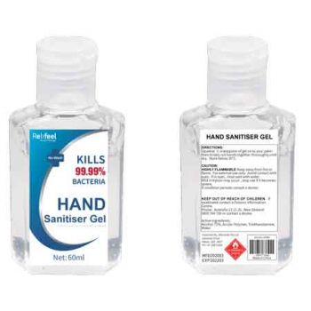 ReliFeel Hand Sanitiser Gel 60ml ( ONLY SOLD in Display of 24 )