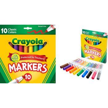 Crayola 10pk Classic Broadline Markers