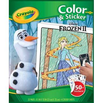Crayola Colour & Sticker Book - Disney Frozen 2