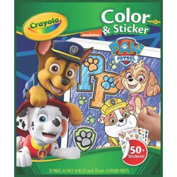 Crayola Colour & Sticker Book - Paw Patrol