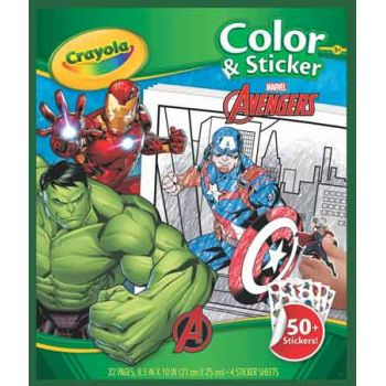 Crayola Colour & Sticker Book - Marvel Avengers