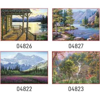 Sure Lox 500pce Jigsaw Puzzle - Alpine Vistas Collection assorted ( ONLY SOLD in Carton of 6 )