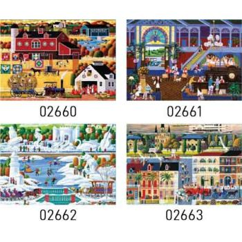 Sure Lox 1000pce Jigsaw Puzzle - Hometown Collection assorted ( ONLY SOLD in Carton of 6 )
