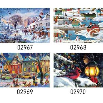 Sure Lox 1000pce Jigsaw Puzzle - Winter Wonderland assorted ( ONLY SOLD in Carton of 6 )