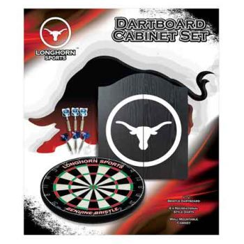 Formula Sports Longhorn Dartboard Cabinet Set