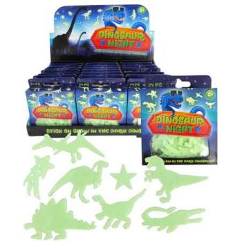 Dinosaur Glow in the Dark Wall Decals ( ONLY SOLD in Display of 24 )