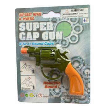 """Gun 8 Shot Diecast 4.25"""" Revolver Pistol"""