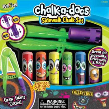 Chalk-a-doos Sidewalk Chalk Set