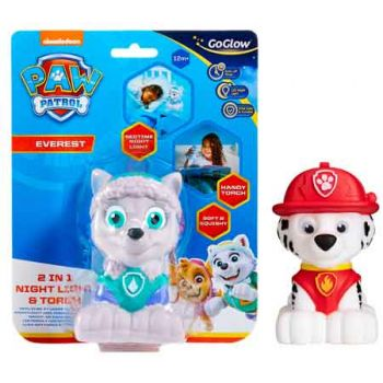 Paw Patrol GoGlow Buddy Marshall & Everest Night Light and Torch assorted ( ONLY SOLD in Carton of 6 )