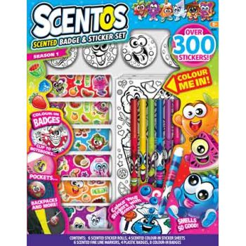 Scentos Scented Sticker & Badget Set