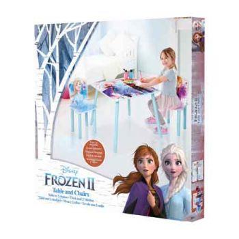 Frozen Wooden Table & Chair Set