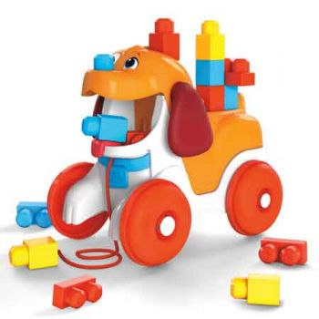 Mega Bloks Poopy the Puppy Pull Along
