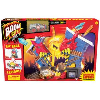 Boom City Racers Fireworks Factory Playset