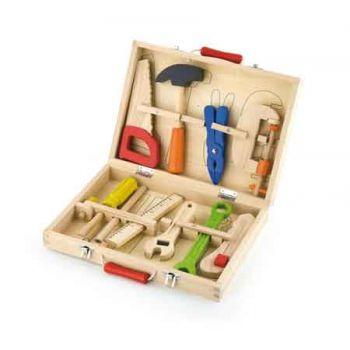 Viga Wooden Tool Box 10pce