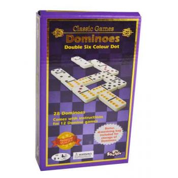 Shuffle Classic Coloured Dominoes Double 6 ( was RRP $14.99 )