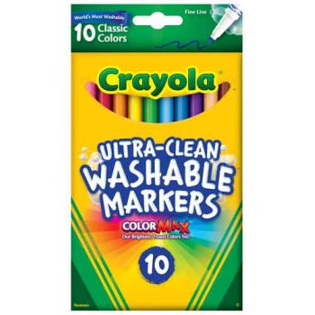 Crayola 10ct Ultra-Clean Fineline Markers