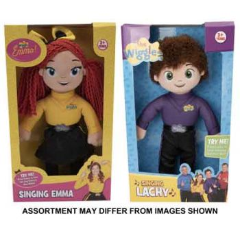 The Wiggles Singing Plush - Emma & Lachy assorted ( ONLY SOLD in Caarton of 6 )