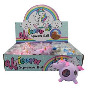 Unicorn Squeeze Ball assorted ( ONLY SOLD in Display of 12 )