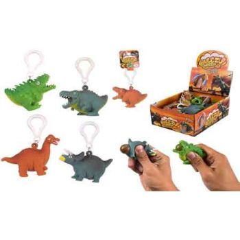 Squeeze Dinosaur Poop Keychain assorted ( ONLY SOLD in Display of 24 )