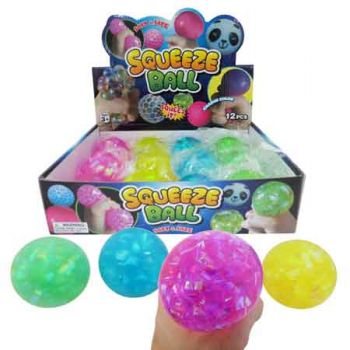 Squeeze Water Ball 6cm assorted ( ONLY SOLD in Display of 12 )