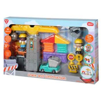 Electronic Crane & Construction Playset