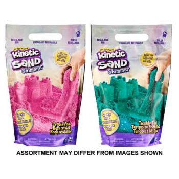 Kinetic Sand 2lb Glitter Sand Pink