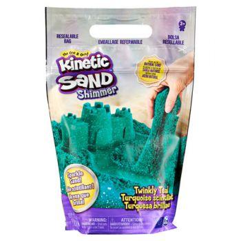 Kinetic Sand 2lb Glitter Sand Teal