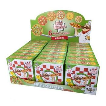 Mini Puzzle Pizza 1pk assorted ( ONLY SOLD in Display of 24 )