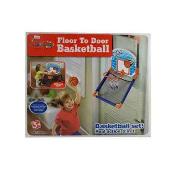 2 in 1 Floor to Door Basketball Set