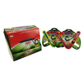 Sports Super Boomerang assorted ( ONLY SOLD in Display of 24 )
