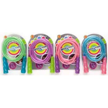 Goofy Foot Glitter Jump Rope assorted ( ONLY SOLD in Display of 14 )