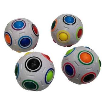 Rainbow Puzzle Fidget Ball ( ONLY SOLD in Carton of 24 )