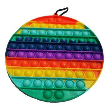 Pop It Fidget Toy SuperSized Rainbow CIRCLE ( ONLY SOLD in Carton of 12 )