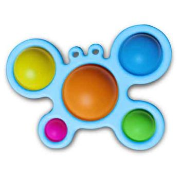 5 Dot Sensory Fidget Toy CRAB Shape Blue ( ONLY SOLD in Carton of 48 )