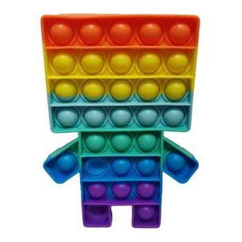 Pop It Fidget Toy Rainbow ROBOT ( ONLY SOLD in Carton of 48 )