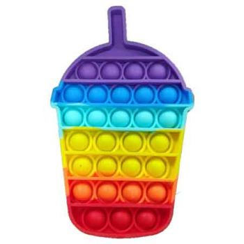 Pop It Fidget Toy Rainbow JUICE CUP ( ONLY SOLD in Carton of 48 )