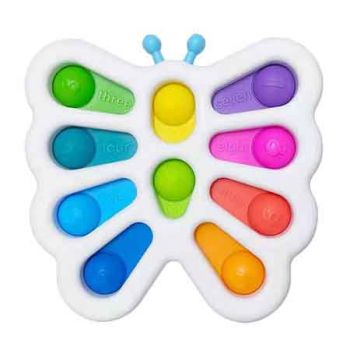 10 Dot Sensory Fidget Toy BUTTERFLY with Numbers ( ONLY SOLD in Carton of 24 )