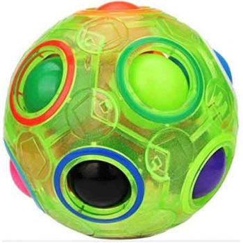 Rainbow Puzzle Glow in Dark Fidget Ball ( ONLY SOLD in Carton of 24 )