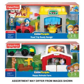 Fisher Price Little People Mini Garage & Farm Playset assorted ( ONLY SOLD in Carton of 2 )