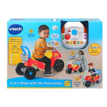 Vtech 3-in-1 Ride with Me Motorbike Red